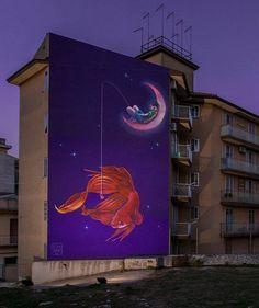 sueños de pesca por nataliarak - Arte de la calle de Natalia Rak <3 <3
