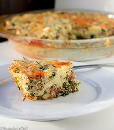 A delicious quiche recipe using sausage, grits, spinach and cheese. Perfect for the holidays or a big weekend family meal. Freezes well for individual weekday breakfasts.