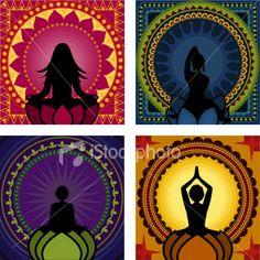 Meditation Series (Vector) Royalty Free Stock Vector Art Illustration