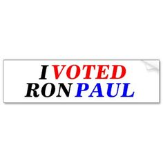 I Voted Ron Paul Bumper Stickers