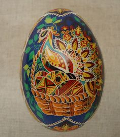 Ukrainian Easter Egg Pysanka by Ira. / Goose egg shell / Pysanky