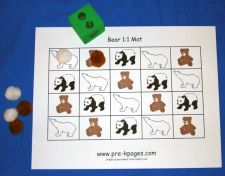 bear counting game via www.pre-kpages.com