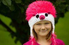 Hedgehog Crochet Earflap or Beanie Hat  by DandoisLionDeLights