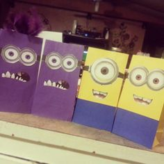 Despicable me minion candy bags
