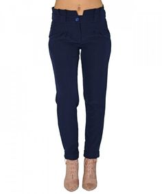 Γυναικείο ψηλόμεσο παντελόνι Benissimo μπλε υφασμάτινο 41643 #παντελονιαγυναικεια #women #womensfashion #womenswear Black Jeans, Pants, Fashion, Moda, Trousers, Black Denim Jeans, Women Pants, Women's Pants, Fasion