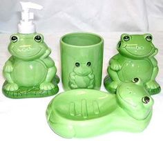 Frog Bathroom, Frog House, Frog Pictures, Cute Frogs, Frog And Toad, Household Items, Decoration, Cute Animals, Elephant