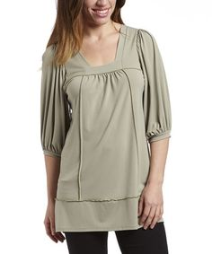 Love this Sage Square Neck Tunic by Simply Irresistible on #zulily! #zulilyfinds