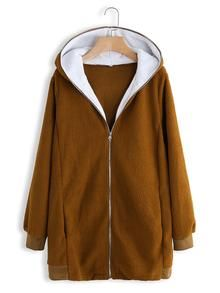 Solid Color Long Sleeve Autumn Winter Plush Long Hooded Sweatshirt can show the feminine elegance well, get best women Hoodies & Sweatshirts online. Sweatshirts Online, Hooded Sweatshirts, Hoodies, Clothes For Sale, Clothes For Women, Bikinis For Sale, Outerwear Women, Types Of Sleeves, Hooded Jacket