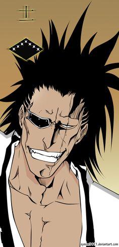 Squad Captain Zaraki Kenpachi by on DeviantArt Bleach Anime, Bleach Art, Kenpachi Zaraki, Kuchiki Rukia, Shinigami, Kendo, Drink Bleach, Manga Anime, Anime Art