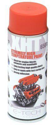 E-Tech RED XHT High Temperature Spray Paint, Brake Caliper, Engine Block 650'C 400ml Can