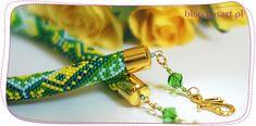 Ukośnik – jak wyliczyć długość sznura i dobrać końcówki Bead Crochet Rope, Jewelry Necklaces, Bracelets, Handmade Jewelry, Brooch, Blog, Beads, Earrings, Ropes