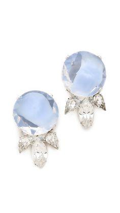 barbados small cluster earrings / noir