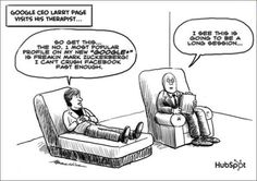 #google CEO Larry Page visits his therapist #socialmedia #cartoon