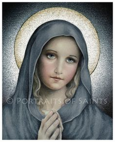 The Virgin Mary Catholic Art Print, Blessed Mother, Our Lady