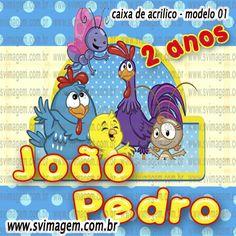 SV Imagem Personalizados - Silmara Vintem: Caixa de Acrílico para Guloseimas no tema Galinha Pintadinha