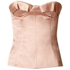 Burberry Satin Bustier Top (65,035 INR) ❤ liked on Polyvore featuring tops, shirts, corset, burberry, burberry top, bustier corset, satin corset, corset shirt and pink corset