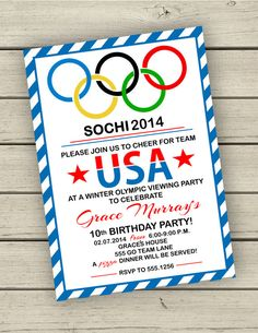 Let the games begin with this olympic themed invitation this is a printable olympic party invitation by madelinelewisdesigns on etsy stopboris Choice Image