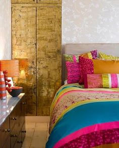 Colour pop in the bedroom. What better and brighter to wake up to? #DecorTip
