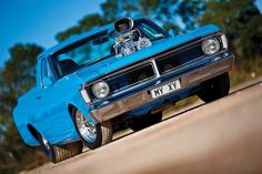 1971 Ford Falcon XY ute. 393ci Windsor with an enormous supercharger and 730hp