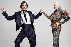 Andreas Kronthaler and Vivienne Westwood. Photographed by Rankin