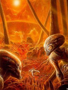 moonzerotwo: Primitive Aliens - Bob Eggleton