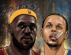 """Check out new work on my @Behance portfolio: """"Lebron James and Stephen Curry"""" http://on.be.net/1KOXbux"""