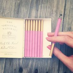 Pink Cigarettes - I don't smoke, but these are still cute!
