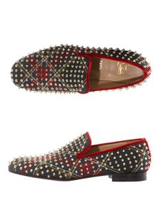 Christian Louboutin Spiked Loafers, super hot footwear launch of the year. More Men's Fashion Trends, Shoes and trending outfits @ www.pinterest.com/rickysturn/men's-fashion
