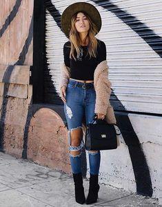 High Waisted Cuffed Denim Jeans