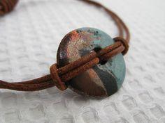 mens' unisex frosted disc bracelet #darcyandoliver Stone Jewelry, Etsy Seller, Handmade Jewelry, Pendant Necklace, Unisex, Bracelets, Handmade Jewellery, Jewellery Making, Diy Jewelry