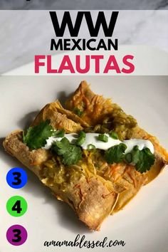Are you looking for some delicious WW Weight Watchers breakfast recipes? These Mexican Breakfast Flautas will hit the spot and are easy and simple to make! Low points for blue plan, green plan or purp Mexican Breakfast Recipes, Mexican Food Recipes, Real Food Recipes, Ethnic Recipes, Weight Watchers Breakfast, Weight Watcher Dinners, Ww Recipes, Brunch Recipes, Dinner Recipes
