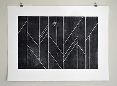 """A limited edition wood-cut relief print by Lian Ng, 2012, 30x22"""""""