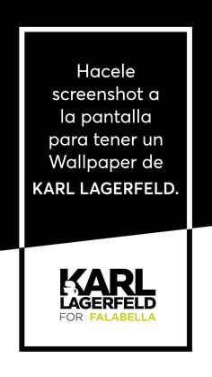 ¡Descargá tu Wallpaper de Karl Lagerfeld! 😎 #KarlIsBack Karl Lagerfeld, Calm, Artwork, Work Of Art
