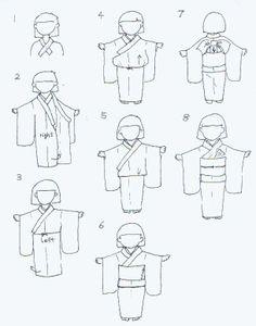how to put on kimono