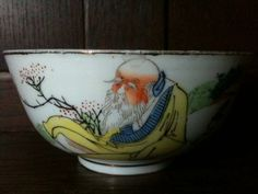 Antique Chinese Old Man Sitting on a Peach Bowl Purchase in store here http://www.europeanvintageemporium.com/product/antique-chinese-old-man-sitting-on-a-peach-bowl/