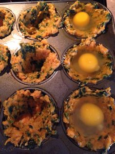 Spinach and Sweet Potato Egg Cups - Saving Sanely