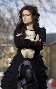 Here, Helena Bonham Carter is perfection! I'm loving the teddy bear!