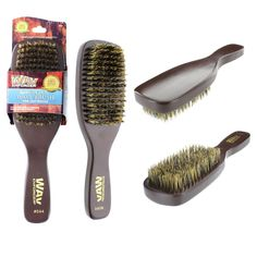 The Wav Enforcer Spin Wave Brush has pure boar bristle. The deep, firm boar bristles, designed for thicker hair, stimulates the scalp, enforces waves and distributes natural oils throughout the hair. Boar Bristle Hair Brush, Wave Brush, Black Men Haircuts, Hair And Beard Styles, Hair Styles, Beard No Mustache, Wave Pattern, Hair Tools, Wooden Handles