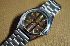 ORIENT Automatic Watches Vintage Mechanical Analog Men s Wrist Steel  Bracelet Brown tone Dial 21 Jewels Day Date Japanese ORIGINAL Working ae0b8143f90
