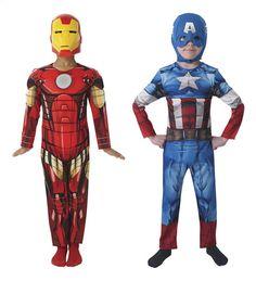 Vind je de Avengers leuk? Kan je niet kiezen tussen Iron Man en Captain America? Met dit omkeerbaar verkleedpak (maat 122/134) kan je beide superhelden worden!