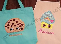 Custom Shopkins Inspired Kids gear Apron Tote and by uniquefavors
