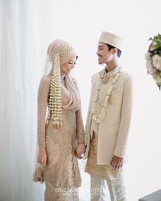Indoneaian wedding couple Pepper to my sunny side up by azminadyra Kebaya Wedding, Muslimah Wedding Dress, Muslim Wedding Dresses, Muslim Brides, Wedding Hijab, Wedding Suits, Wedding Bride, Wedding Gowns, Wedding Ideas