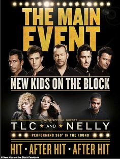 Nelly with New Kids On The Block and TLC for The Main Event Tour starting May 1 in Las Vegas 2015