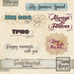 Tenderhearted Word Art