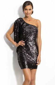 4c3bd6913fc Aidan by Aidan Mattox Matte Sequin One Shoulder Dress (size 10) Roztomilé  Šaty