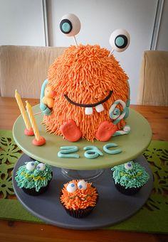 My little monster 2nd birthday cake