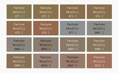 pantone metallic color chart - Google Search