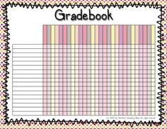Check out our printable gradebook pages! | Back-to-School - Super ...