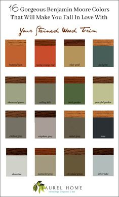 16 Gorgeous Benjamin Moore Colors that will make you fall in love with your stained wood trim