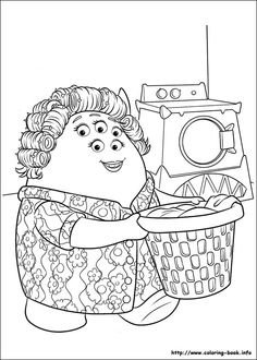 Monsters Inc Online Coloring Pages Printable Book For Kids 28